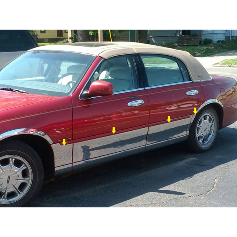 Luxury Fx Side Molding And Rocker Panels 98 11 Lincoln Town Car