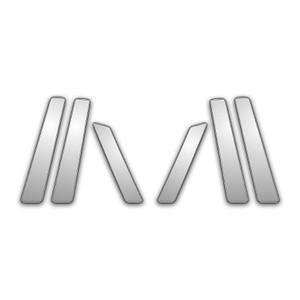 Auto Reflections | Pillar Post Covers and Trim | 08-13 Infiniti EX | P3732-Chrome-Pillar-Posts