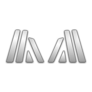 Auto Reflections | Pillar Post Covers and Trim | 08-13 Infiniti EX | P3733-Chrome-Pillar-Posts