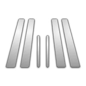 Auto Reflections   Pillar Post Covers and Trim   97-03 Pontiac Grand Prix   P5807-Chrome-Pillar-Posts