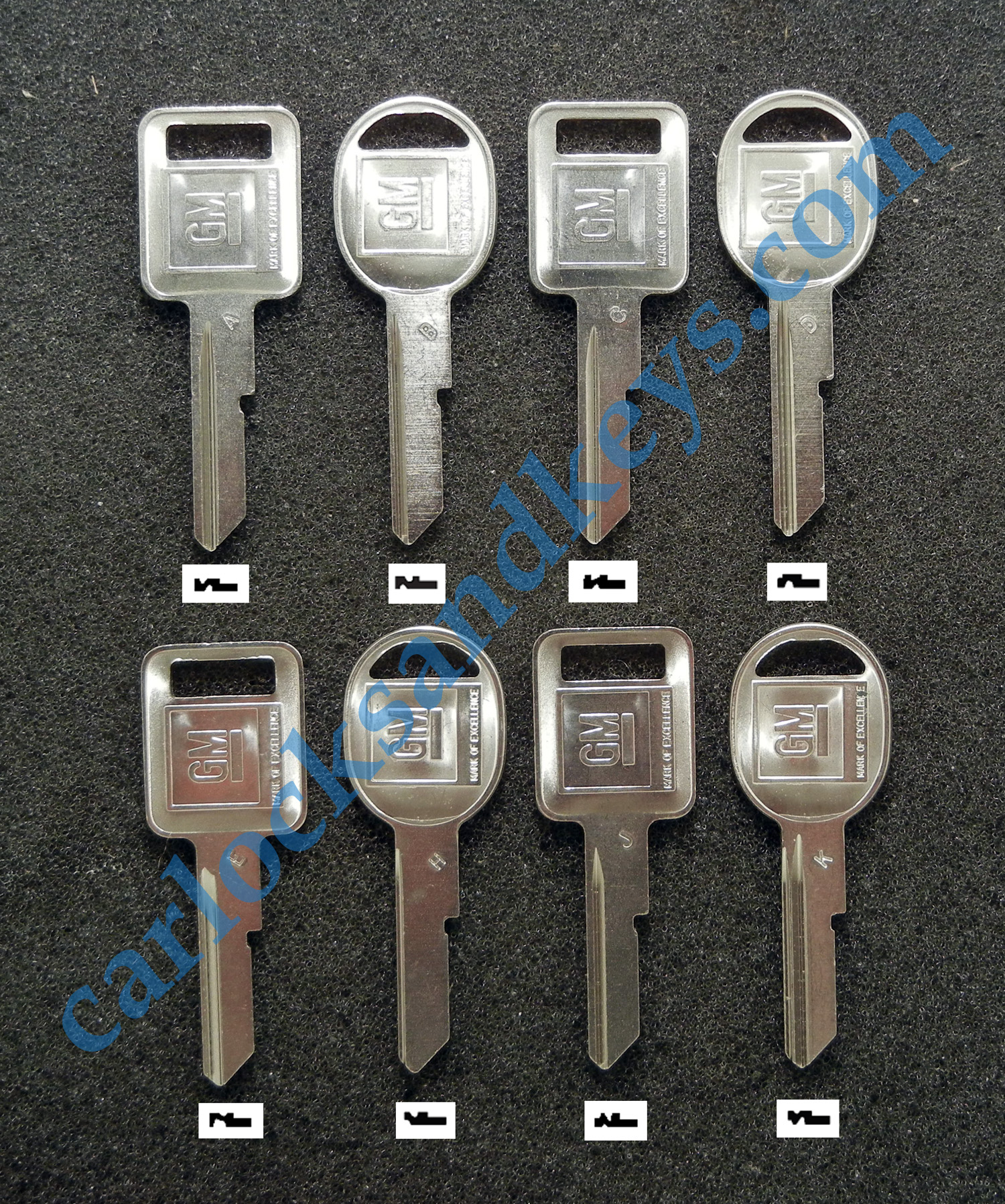 all about gm general motors lettered square and round key blanks rh carlocksandkeys com High Security Key Blanks Key Blank Chart