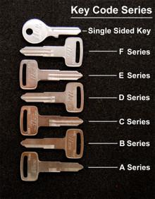 1980 - 1983, 1988 - 1990 Yamaha DT50, DT80, DT100, DT125, DT175 Key Blanks