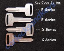 2005 - 2009 Suzuki Boulevard S50, S83 or VS800, VS1400 Key Blanks