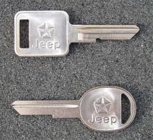 1987-1990 Jeep Wrangler Key Blanks