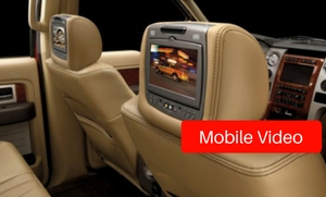 Mobile Video and rear seat entertainment options at Stereo West Autotoys