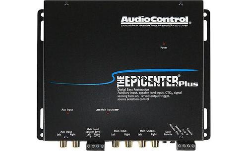 The Epicenter® Plus by AudioControl Bass restoration processor plus auxiliary input (Black)