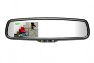 "50-GENK335S Gentex Auto-Dimming Rearview Mirror w/ 3.3"" Rear Camera Display & Compass"