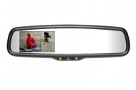 "50-GENK3320S Gentex Auto-Dimming Rearview Mirror w/ 3.3"" Rear Camera Display with Compass & Temperature"