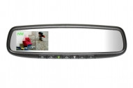 "50-2010TUNK3345 Gentex Auto-Dimming Rearview Mirror w/ 3.3"" Rear Camera Display, Compass & HomeLink for Prewired Tundra"