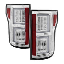 Ford F150 2015-2017 Light Bar LED Tail Lights - Chrome