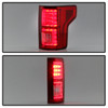 Ford F150 2015-2017 Light Bar LED Tail Lights - Red Clear