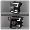 Ford F150 2015-2017 Projector Headlights - Light Bar DRL LED - Black