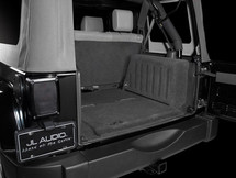 SB-J-UNLTD4D/13TW5v2/BK: Stealthbox® for 2007-2012 Jeep Wrangler Unlimited with Black Trunk SKU # 94419