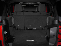 SB-J-WRUD/10TW1/BK (DRIVER): Stealthbox® for 2007-Up Jeep Wrangler Unlimited with Black Trunk (Driver Side) SKU # 94606