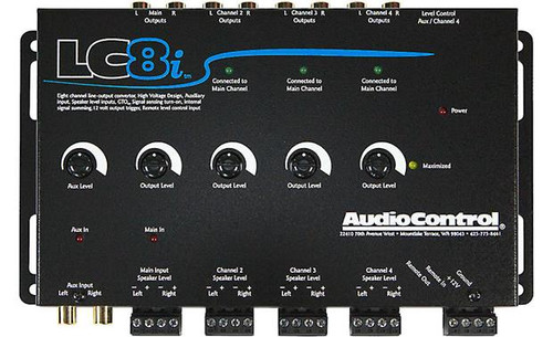 AudioControl LC8i 8-channel line output converter — add amps and subs to a factory system (Black)