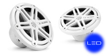 JL Audio MX770-CCX-SG-WLD-B: 7.7-inch (196 mm) Cockpit Coaxial System, White Sport Grilles with Blue LED