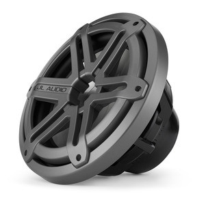 JL Audio MX10IB3-SG-TB: 10-inch (250 mm) Marine Subwoofer Driver, Titanium Sport Grille, 4 Ω
