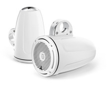 JL Audio MX770-ETXv3-CG-WH: 7.7-inch (196 mm) Enclosed Tower Coaxial System, White Gel-Coat, White Classic Grilles
