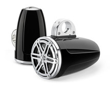 JL Audio MX770-ETXv3-SG-CB: 7.7-inch (196 mm) Enclosed Tower Coaxial System, Black Gel-Coat, Chrome Sport Grilles