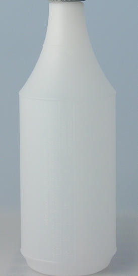 32 oz. Graduated spray bottle - Use for applying detail products that require spraying. Includes scale on side for easy dilution calculations.  You can purchase sprayer separately  or combined.