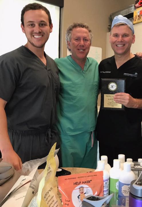 Dr David Harvey with student Dr Douglas Shapiro and Dr Larry Shapiro