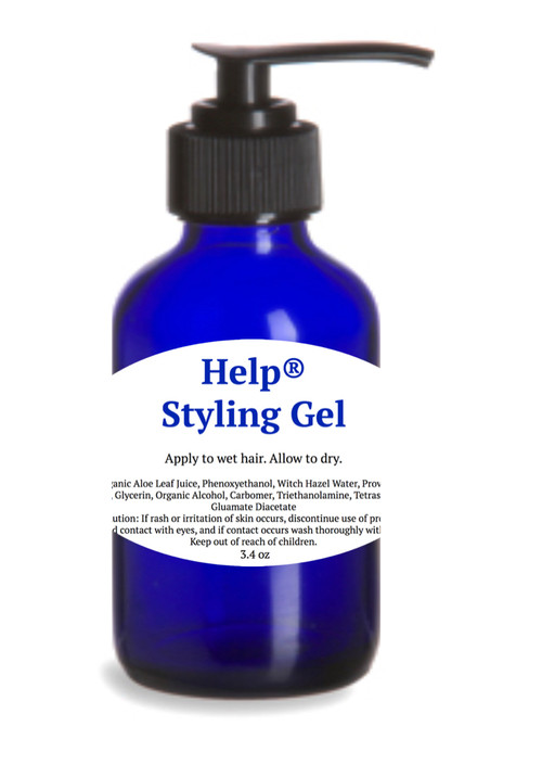 Help®Styling Gel- for a casual hold with soothing Organic Aloe and  Pro-Vitamin B5 boost!