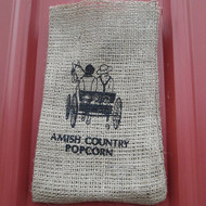 Burlap Bag - Couple in Buggy | Amish Country Popcorn in Indiana