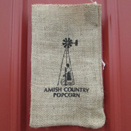 Burlap Bag Wind Mill | Amish Country Popcorn in Indiana
