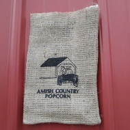 Barn Burlap Bag | Amish Country Popcorn in Indiana