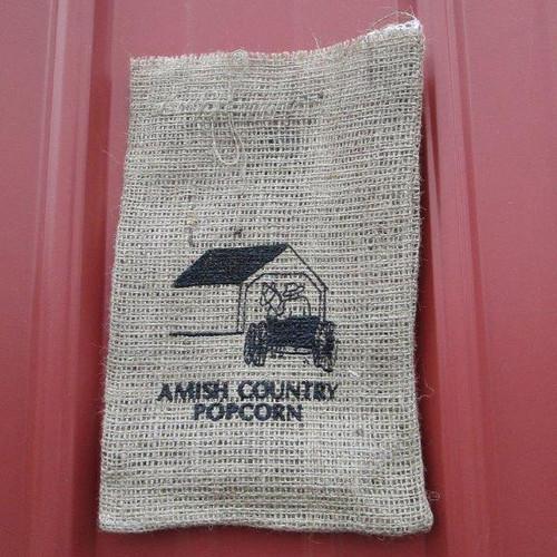 Barn Burlap Bag | Amish Country Popcorn in Indiana