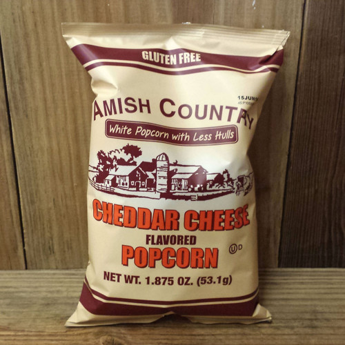 Hulless Cheddar Cheese Popcorn   Amish Country Popcorn
