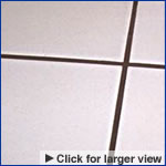 repaired grout