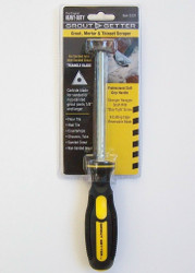 Grout Getter tool for removing grout.