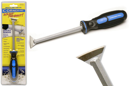 Tile, grout and caulk removal tool called Corner Pro