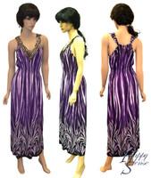 Dress Long Empired Waist w/sequins