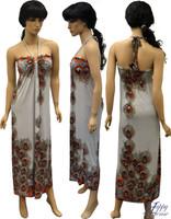 Dress Long Peacock Halter Dress