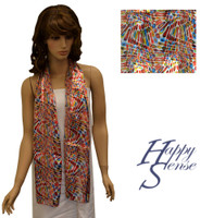 Satin Stripe Scarf Long Abstract (SSPO 4298)