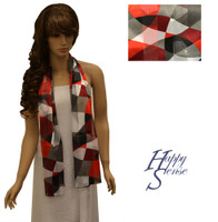 Satin Stripe Scarf Long Abstract (SSPO 4308)