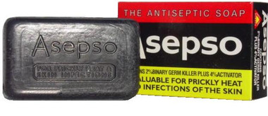 Asepso Prickly Heat Antiseptic Soap 3 oz / 80 g - Guesso