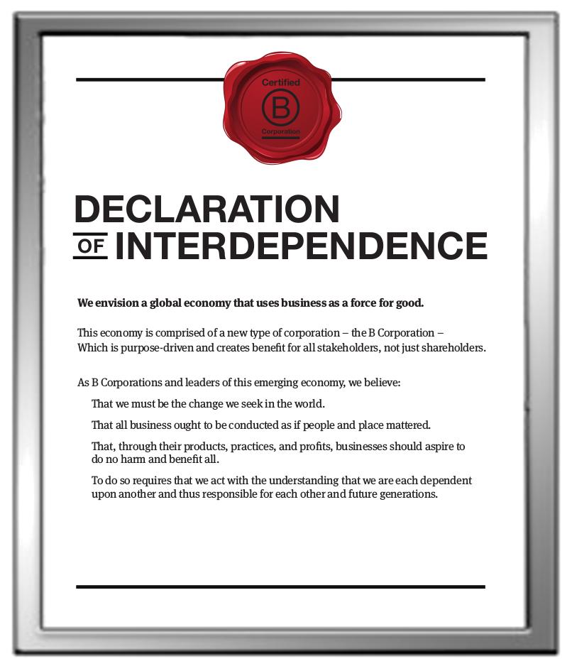 b-corp declaration