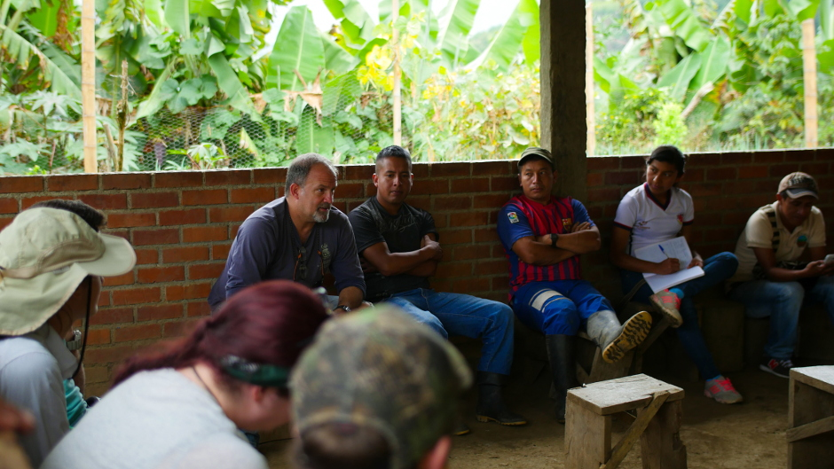Meeting with La Nueva Colonia in Jambalo Medio Colombia