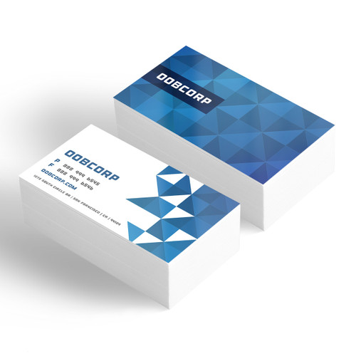 glossy business cards printed in atlanta on 12pt card stock with uv gloss coating - Business Card Printing