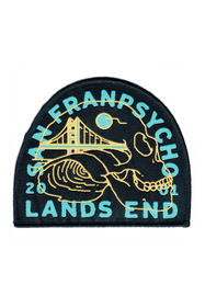 Lands End Skull Woven Patch