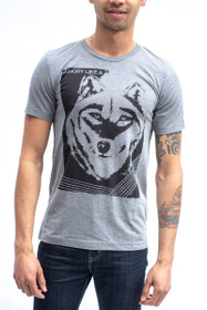 Hungry Like A Wolf  Grey Tee