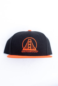 Orange and Black Logo Snapback Flat Bill