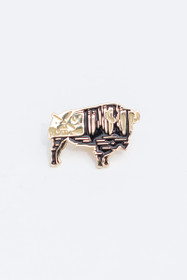 Buffalo Enamel Pin