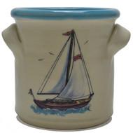 Small Crock - Sailboat