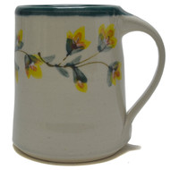 Coffee mug - Gold Flower Vine