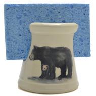 Sponge Holder - Black Bear