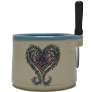 Dip Bowl with Spreader Knife - Heart